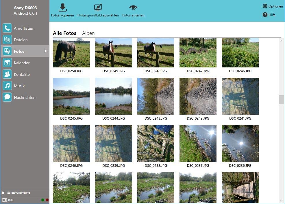 Fotos vom Android-Telefon auf den PC übertragen