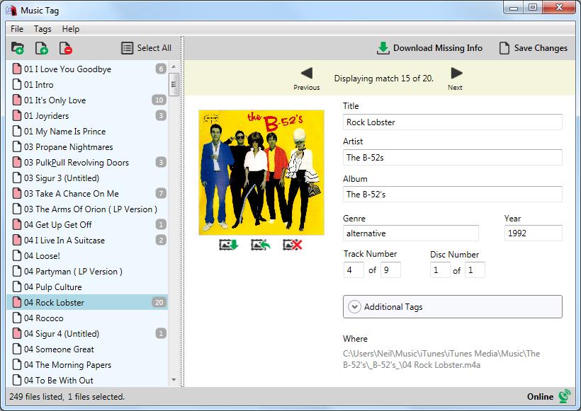 Music Tag Automatischer Download Fehlender Cover Und Song