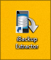 iBackup Extractor icon on the Desktop